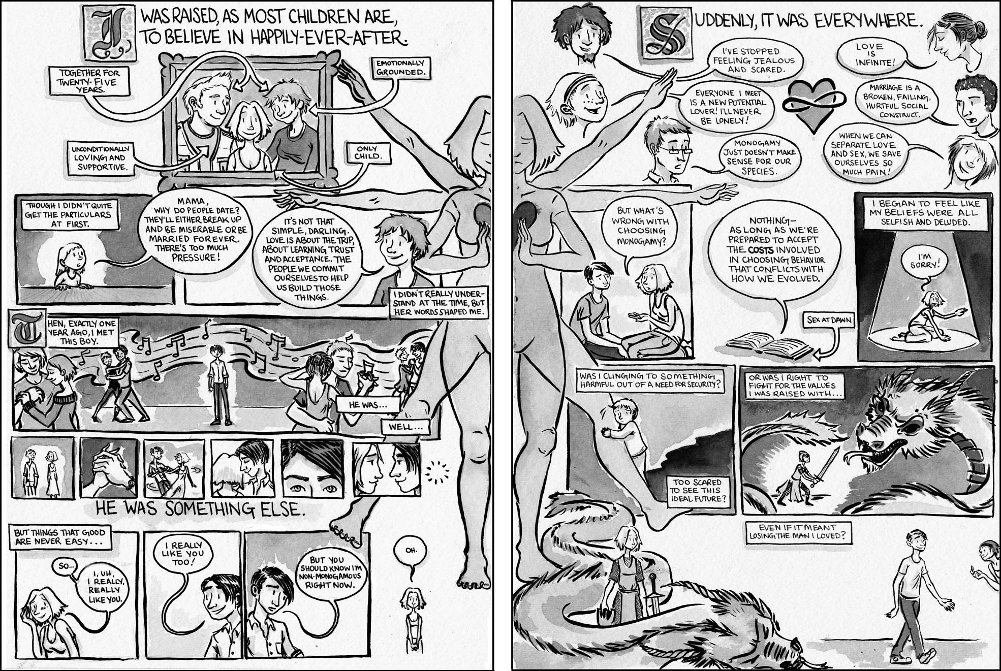 nude cartoon comic strips Lesbian